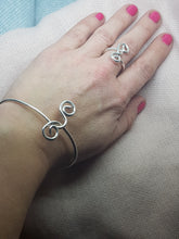 "Sterling silver ""Twist"" ring"