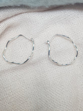 """Wild Atlantic Wave "" Sterling silver hoop earrings"