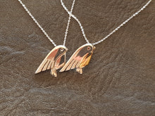Sterling silver & 9ct gold handcrafted robin necklace