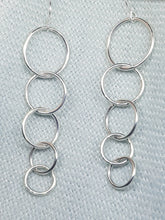 "Sterling silver "" Circles"" drop earrings"