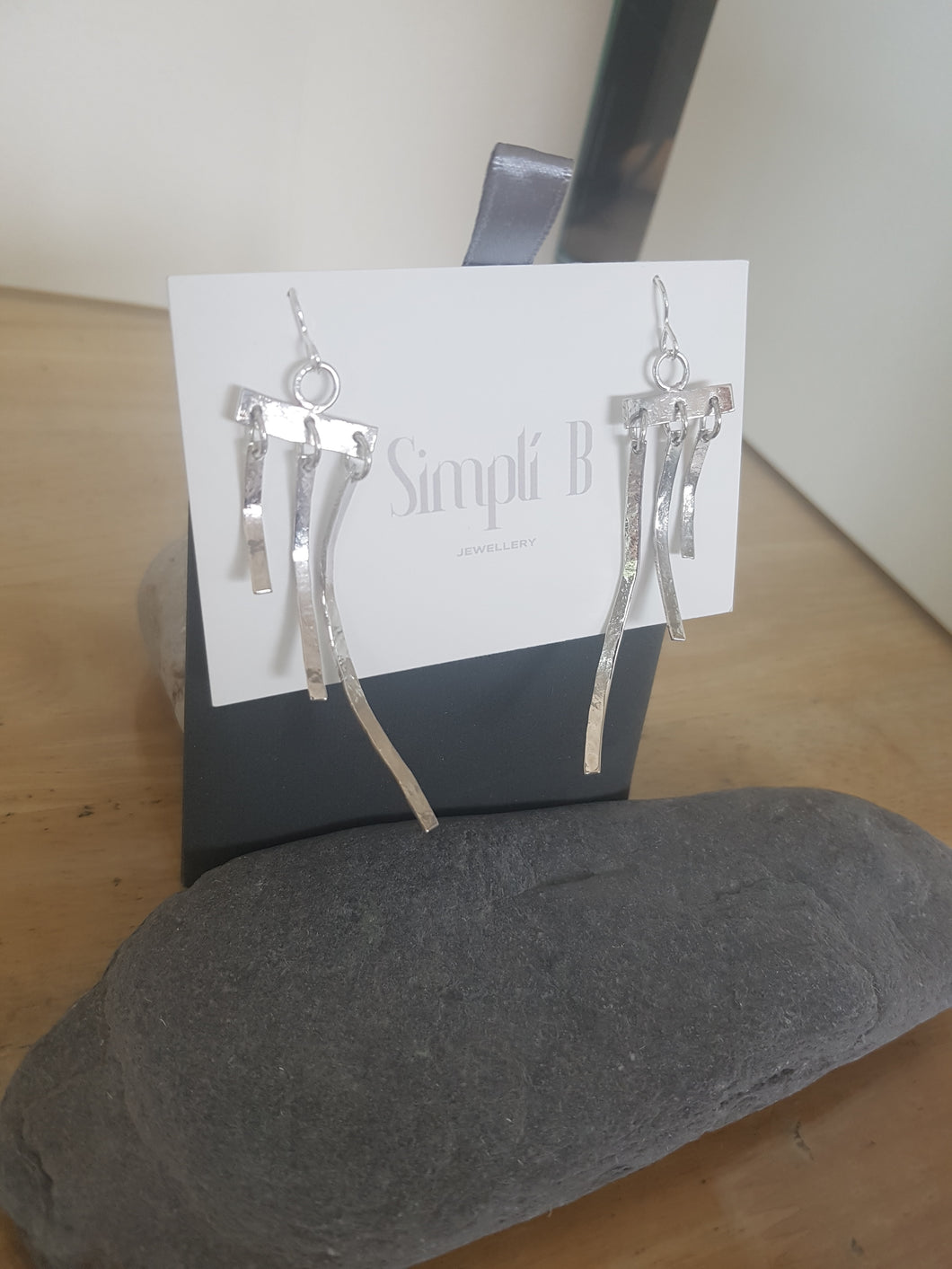 Jingle jangle long 925 sterling silver drop earrings