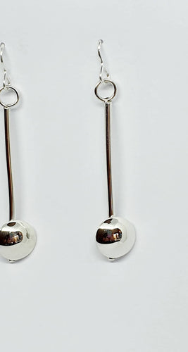 925 sterling silver pendulum drop earrings