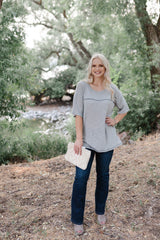 Sandstone Grey Knit Top