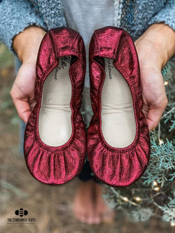 IN STOCK Storehouse Flats EXCLUSIVE LIMITED EDITION Cranberry Foil