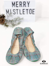 IN STOCK Storehouse Flats EXCLUSIVE LIMITED EDITION Merry Mistletoe Plaid