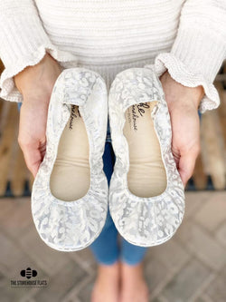 IN STOCK Storehouse Flats EXCLUSIVE LIMITED EDITION Silver Snow Leopard