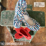 IN STOCK EXLUSIVE Storehouse Flats LIMITED EDITION Striped Posie