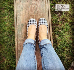 IN STOCK Storehouse Flats EXCLUSIVE LIMITED EDITION Home Plaid black/white