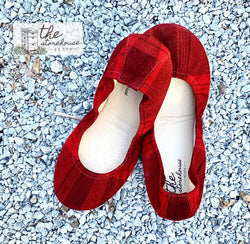 IN STOCK Storehouse Flats EXCLUSIVE LIMITED EDITION Christmas Classic Plaid Suede