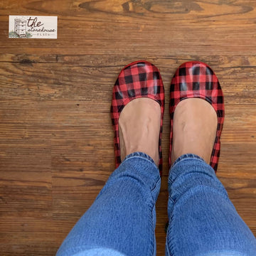EXCLUSIVE Storehouse Flats LIMITED EDITION Red Buffalo Plaid