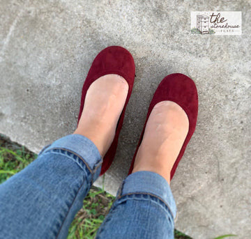 EXCLUSIVE Storehouse Flats LIMITED EDITION Wine Suede