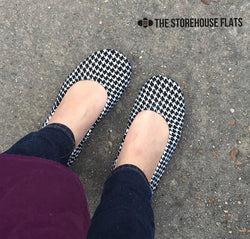 IN STOCK Storehouse Flats EXCLUSIVE LIMITED EDITION  Houndstooth Suede