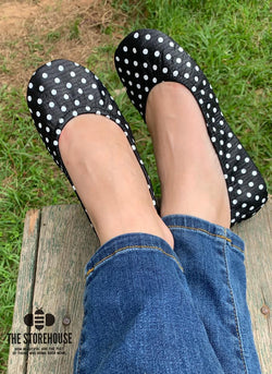 IN STOCK Storehouse Flats EXCLUSIVE LIMITED EDITION Black Polka Dot