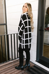 Bold Lines Cardigan in Black