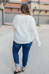Cozy Cropped Sweater in White