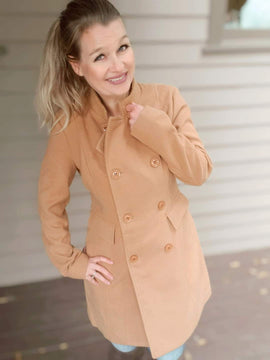 """""""Just Me"""" Camel Colored Coat"""