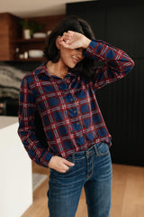 Grid Girl Button Down Top
