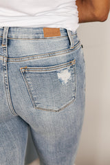 Judy Blue Old Is New Distressed Jeans