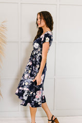 Pale Poppies Midi Dress