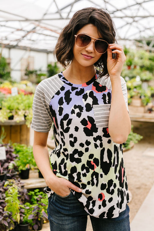 Pastel Spots & Stripes Top