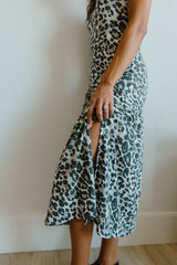 Sage Cheetah Dress
