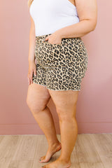 Judy Blue Summer Nights Leopard Print Shorts