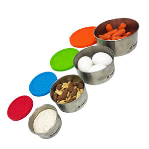 Penguinni, no-plastic, leak-proof, light-weight, easy-to-clean, silicone steel snack containeers