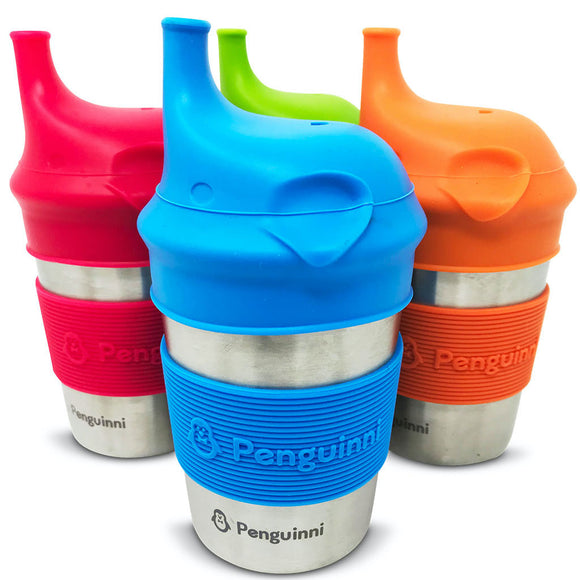 Stainless Steel and Silicone Sippy Cups (4 Pack)