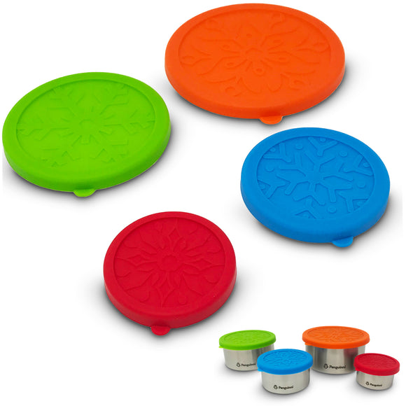 Snack Container Silicone Lids (4 Pack)
