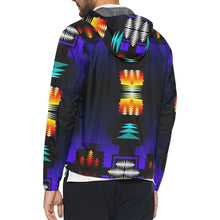 midnight sage fire II All Over Print Windbreaker for Men (Model H23)