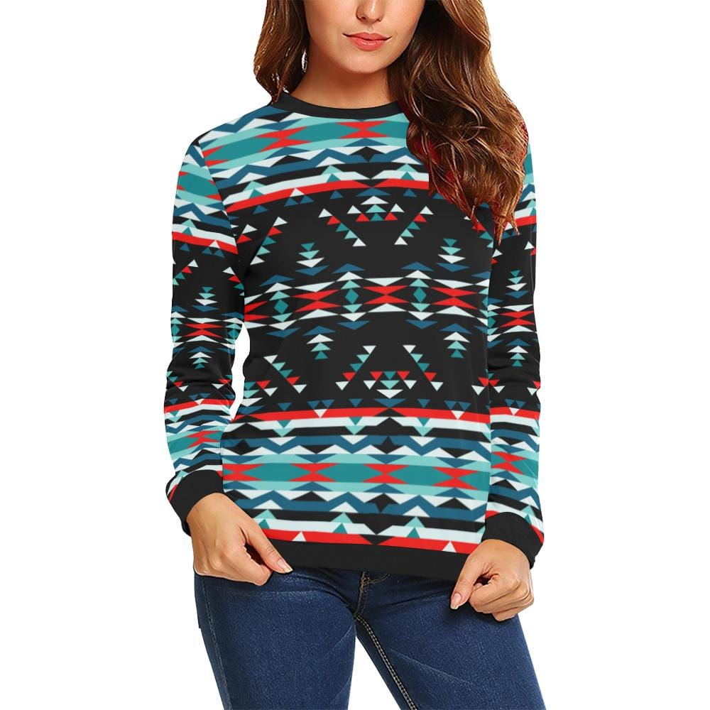 Visions of Peaceful Nights All Over Print Crewneck Sweatshirt for Women (Model H18)