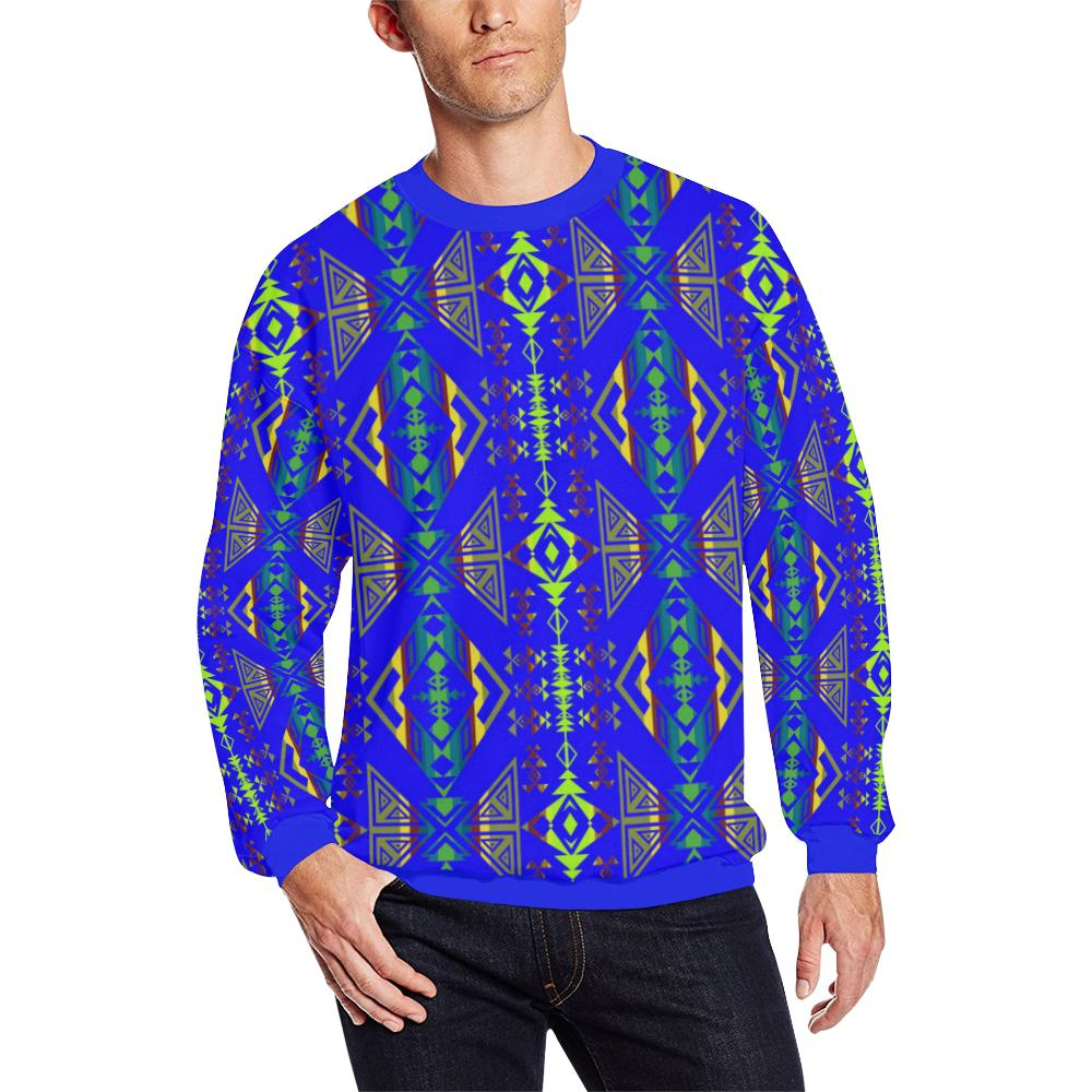Upstream Expedition Midnight Run All Over Print Crewneck Sweatshirt for Men/Large (Model H18)