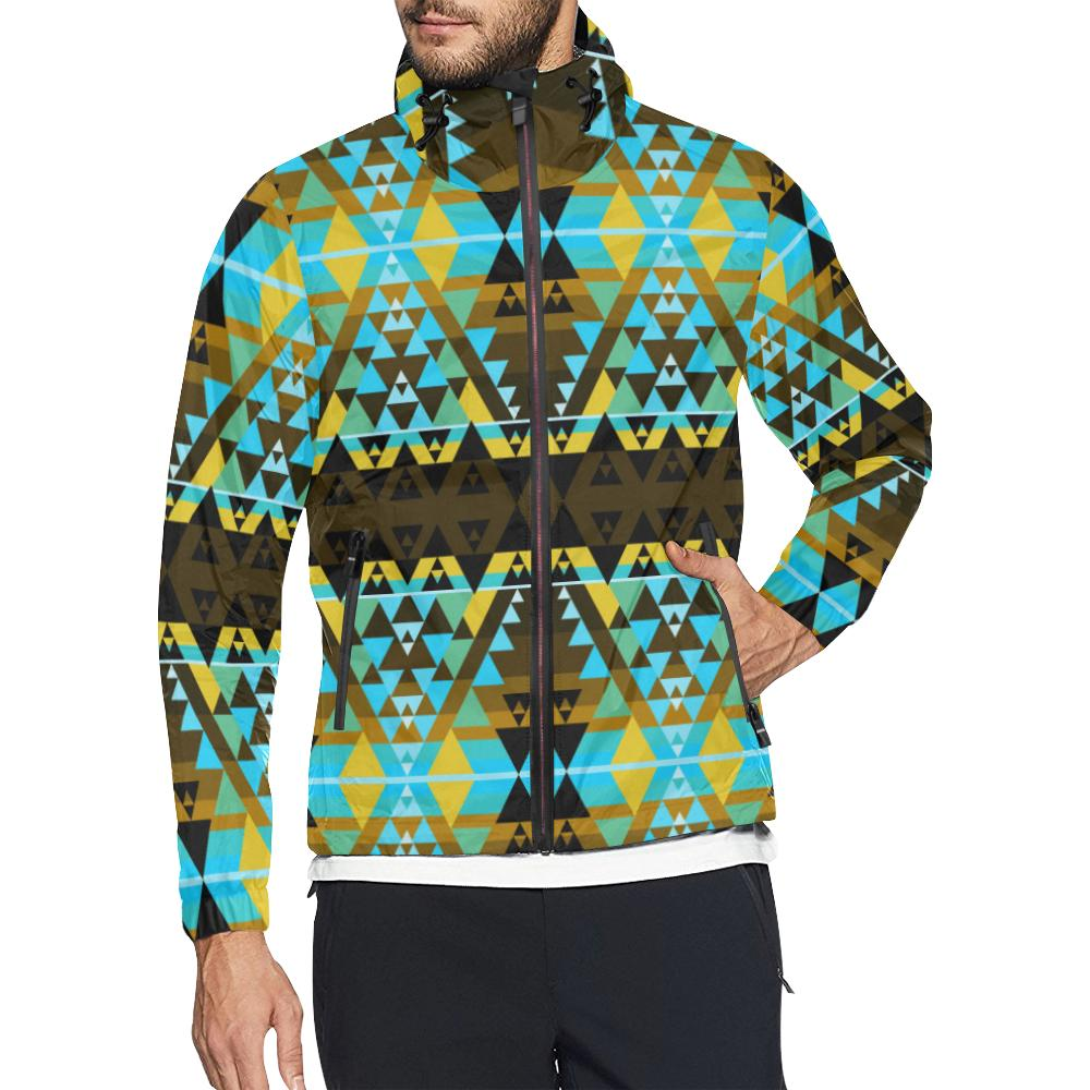 Writing on Stone Broken Lodge All Over Print Windbreaker for Unisex (Model H23)