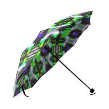 Purple Green Sage Foldable Umbrella - 49 Dzine