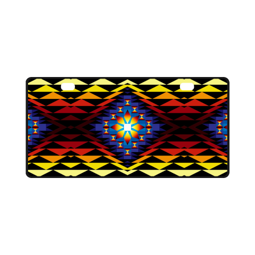 Sunset Blanket License Plate