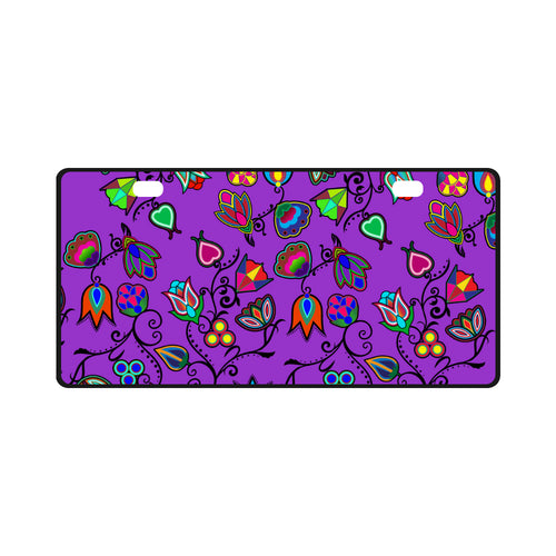 Indigenous Paisley - Dark Orchid License Plate