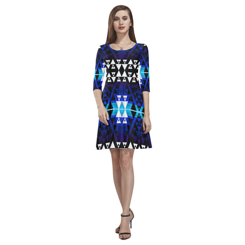 WRiting on Stone Night Watch Tethys Half-Sleeve Skater Dress(Model D20)