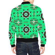 Rising Star Sage Moon All Over Print Bomber Jacket for Men/Large Size (Model H19)