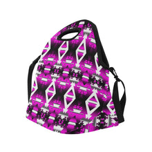 Sunset Winter Camp Large Insulated Neoprene Lunch Bag That Replaces Your Purse (Model 1669)
