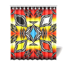 "Prairie Fire Medicine Wheel Shower Curtain 72""x84"" - 49 Dzine"