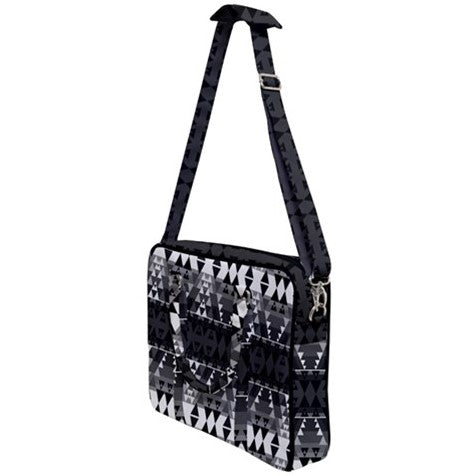 Writing on Stone Black and White Cross Body Office Bag