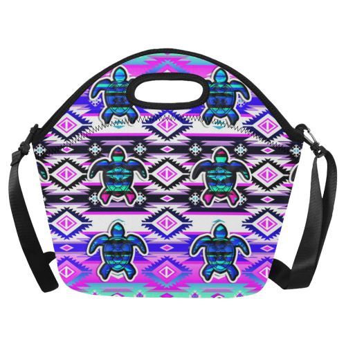 Adobe Dance Turtle Neoprene Lunch Bag/Large (Model 1669) Neoprene Lunch Bag/Large (1669) e-joyer