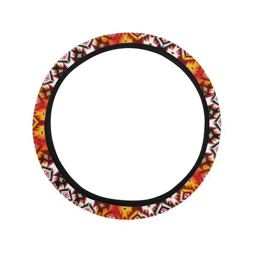 Adobe Fire Steering Wheel Cover with Elastic Edge Steering Wheel Cover with Elastic Edge e-joyer