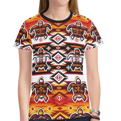 Adobe Fire Turtle New All Over Print T-shirt for Women (Model T45) New All Over Print T-shirt for Women (T45) e-joyer
