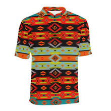 Adobe Kiva Men's All Over Print Polo Shirt (Model T55) Men's Polo Shirt (Model T55) e-joyer