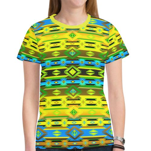 Adobe Midnight New All Over Print T-shirt for Women (Model T45) New All Over Print T-shirt for Women (T45) e-joyer