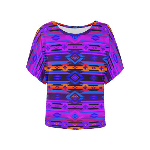 Adobe Morning Women's Batwing-Sleeved Blouse T shirt (Model T44) Women's Batwing-Sleeved Blouse T shirt (T44) e-joyer