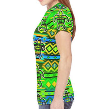 Adobe Nature Turtle New All Over Print T-shirt for Women (Model T45) New All Over Print T-shirt for Women (T45) e-joyer