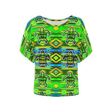 Adobe-Nature-Turtle Women's Batwing-Sleeved Blouse T shirt (Model T44) Women's Batwing-Sleeved Blouse T shirt (T44) e-joyer