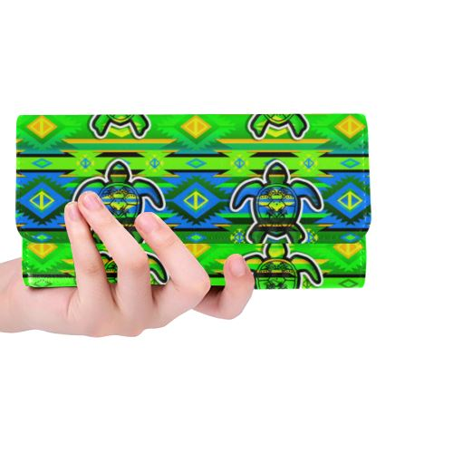 Adobe-Nature-Turtle Women's Trifold Wallet (Model 1675) Women's Trifold Wallet e-joyer